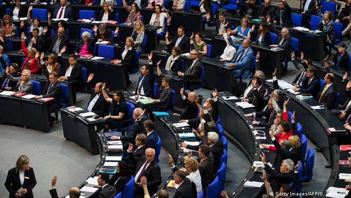 Abstimmung im Bundestag über Armenienresolution (Foto. Getty Images/AFP)