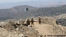 5.20.2016 *** Pakistani soldiers keep vigil from a post on top of a mountain in the former Taliban militants strong hold border area in Shawal valley on May 20, 2016. Pakistan's army said May 20 it had cleared the last militant stronghold in the country's northwestern tribal area after a three-month long operation. In February troops began the final phase of the Zarb-e-Arb mission in North Waziristan, on the border with Afghanistan, where militants had previously operated with impunity. / AFP / STR (Photo credit should read STR/AFP/Getty Images) Copyright: Getty Images/AFP