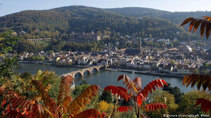 Blick auf Heidelbergs Altstadt mit dem Neckar und der Brücke (picture-alliance/dpa/R. Wittek)