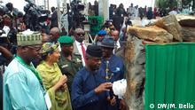Nigeria Bodo Gemeinde in Ogoni Yemi Osinbajo und Amina Mohammed