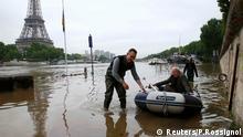 Unwetter Frankreich Paris Seine Überschwemmung