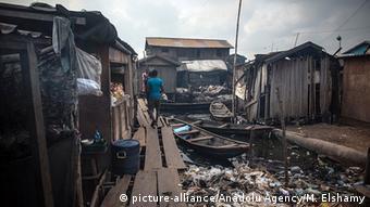 Nigeria schwimmender Slum in Lagos