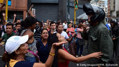 Protesto contra carestia na Venezuela