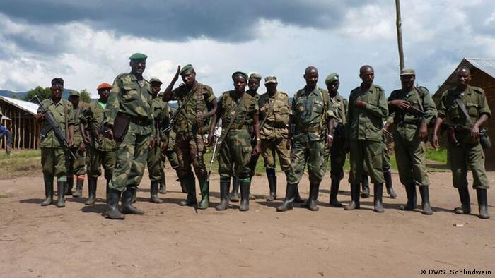 FDLR fighters in full gear pose for a picture in 2012