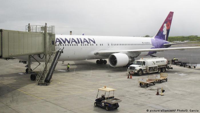 USA Hawaii Kahului Hawaiian Airline Flugzeug (picture-alliance/AP Photo/O. Garcia)