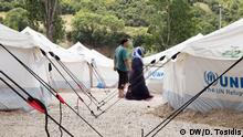 June 2016 Hundreds of tents have been quickly set up under the sun with no shade nearby making the living conditions unbearable during summer. Copyright: DW/D. Tosidis