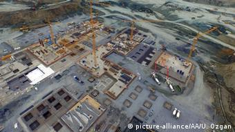 To αχανές εργοτάξιο του νέου αεροδρομίου της Κωνσταντινούπολης