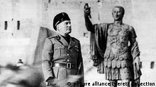 Benito Mussolini im Jahr 1943