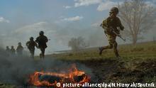 Russland Soldaten Manöver
