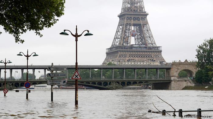Frankreich Paris Hochwasser