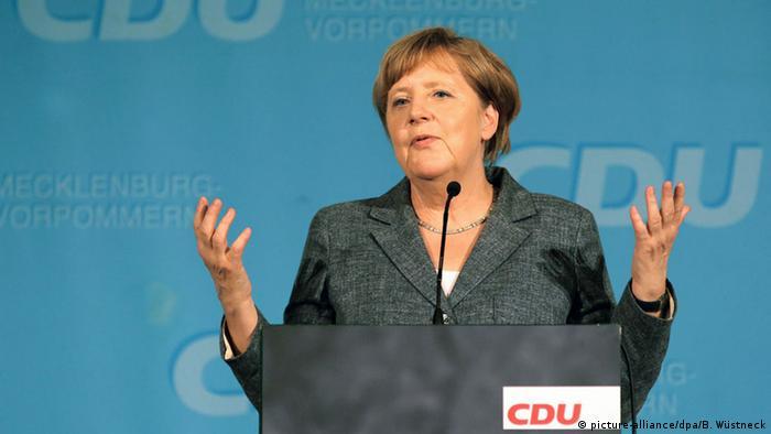 Меркель на партийном съезде ХДС в Мекленбурге-Передней Померании