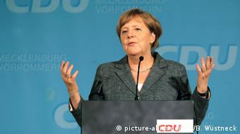 CDU-Landesparteitag Mecklenburg-Vorpommern Merkel
