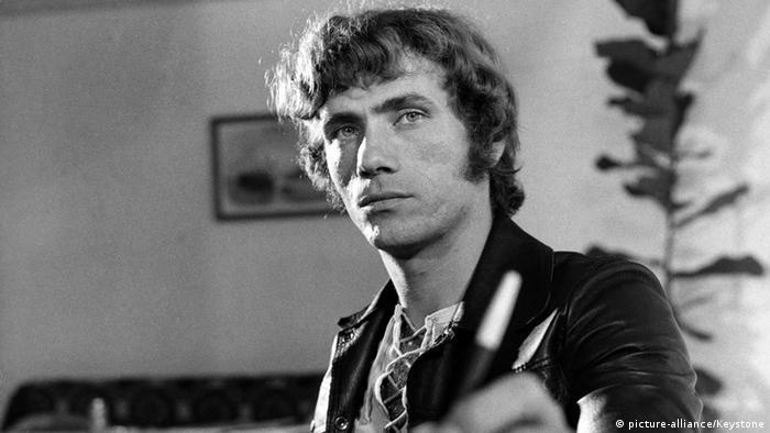Black-and-white portrait of Jürgen Prochnow in the 1970s.
