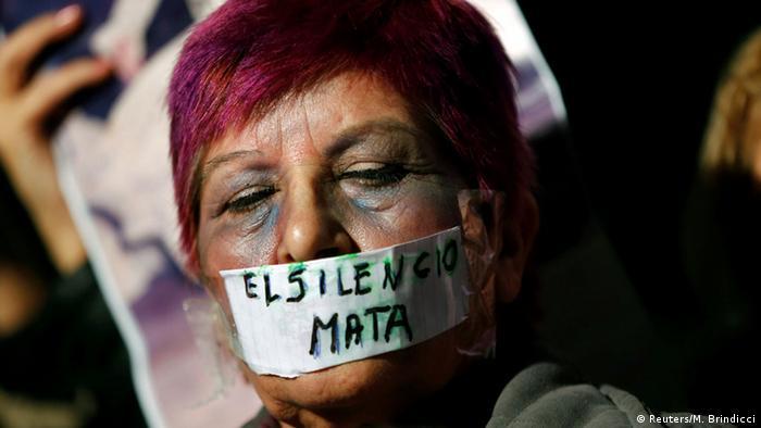 Argentinien Protest gegen häusliche Gewalt