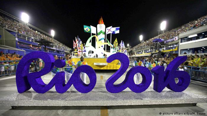 The official sign for the 2016 Summer Olympics in Rio de Janeiro
