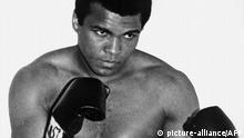 1960 Picture dated from the 60's of the U.S. boxing champion Cassius Clay (Muhammad Ali), who got the Olympic middle heavyweight gold meadal in 1960 in Rome, aged 18, and got the professional world heavyweight title for the first time in February 1964 against Sonny Liston.   (c) picture-alliance/AFP
