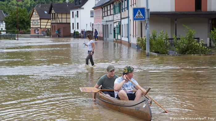 Flood waters in Altenburg, June 2016