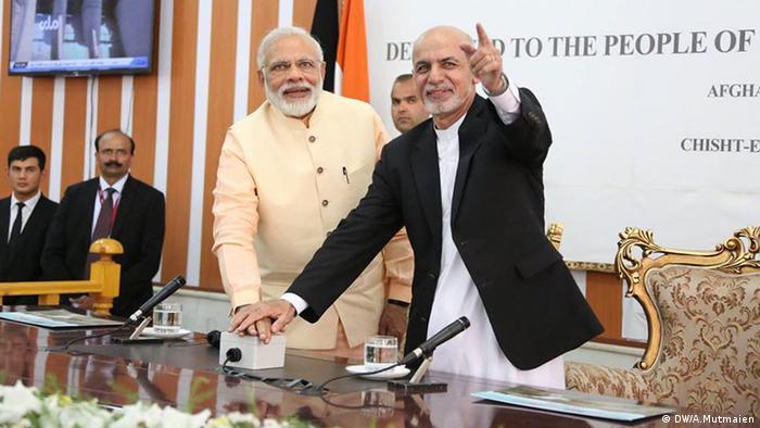 Indian PM Narendra Modi and former Afghan President Ashraf Ghani