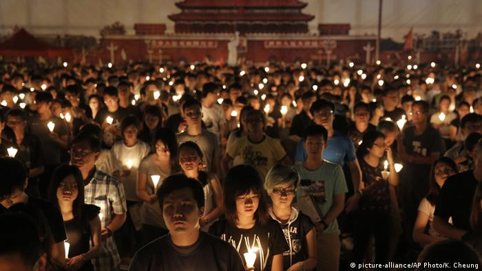 China Hongkong Jahrestag Gedenken Tiananmen