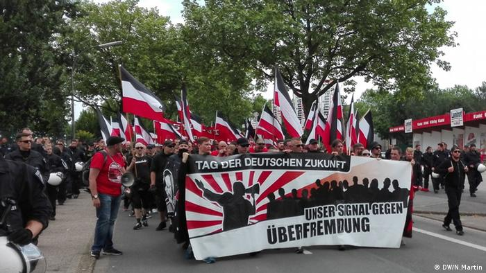 Demonstration Dortmund BlockDo Links gegen Rechts