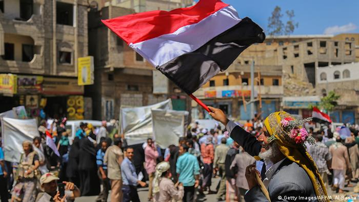 Peace protesters in Yemen.