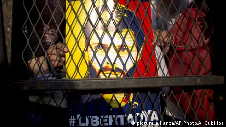 Poster do oposicionista na Venezuela Leopoldo Lopez