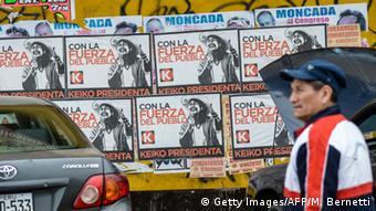 Political posters in Lima, Peru