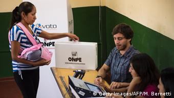 Casting a vote for a president