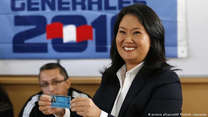 Peru Keiko Fujimori Wahlen in Lima (picture alliance/AP Photo/S. Izquierdo)