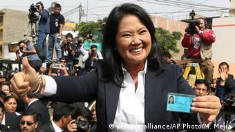 Peru Keiko Fujimori Wahlen in Lima