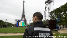 Euro 2016 Fan Zone Champs de Mars Paris Frankreich Sicherheit Security