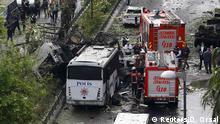 Türkei Bombenanschlag auf Polizeibus in Istanbul