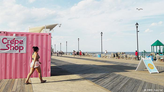 Strandpromenade in Asbury Park, New Jersey (Foto: H. Kaschel/DW)