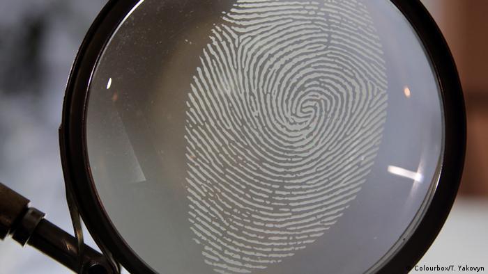 отпечаток пальца человека