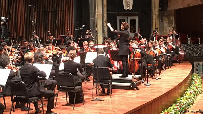 Mexiko-Stadt Konzerthalle im Palast der Schönen Künste. Alondra de la Parra. Foto: Copyright: DW/ P. Álvarez