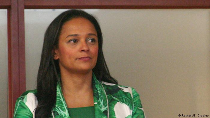 Angola Isabel dos Santos spricht zu Journalisten