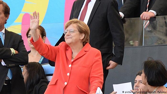 Меркель на матчі фіналу Чемпіонату світу з футболу