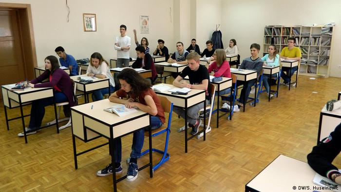 Bosnien-Herzegowina, Schulklasse im Franziskanergymnasium in Visoko