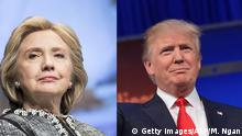 Boldkombo Hillary Clinton Donald Trump Emotionen