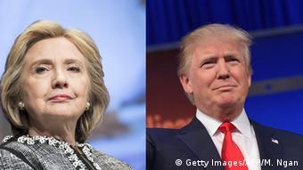 Boldkombo Hillary Clinton Donald Trump Emotionen