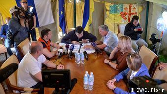 Кабинет Саакашвили в палатке