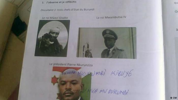Burundi Schulbuchkritzeleien