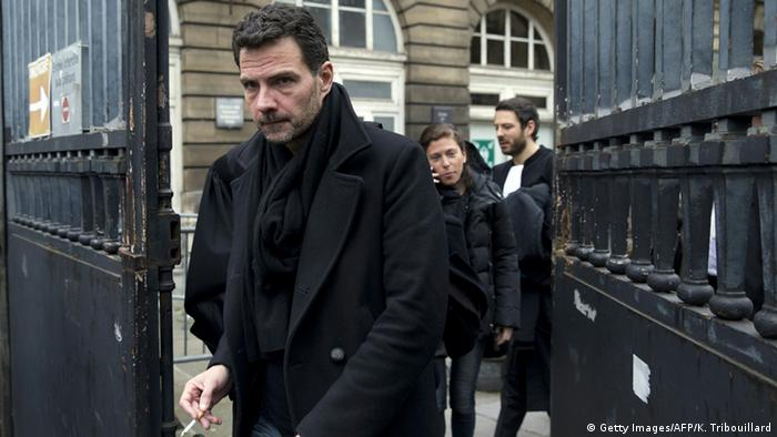 French trader Jerome Kerviel leaves the courthouse of Paris