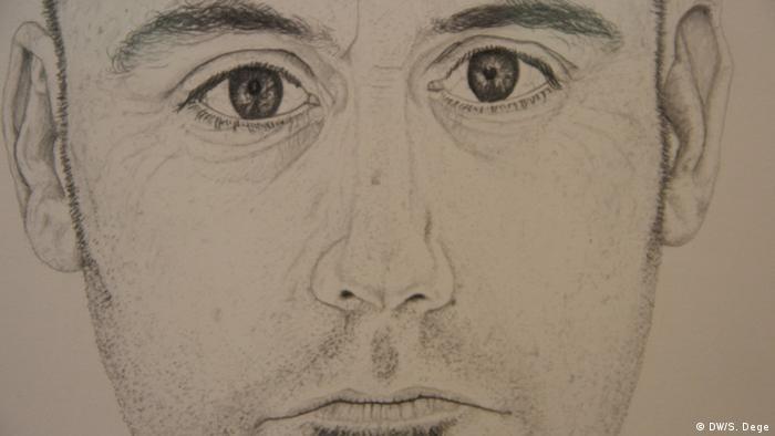 Porträtzeichnung eines ernst dreinblickenden Mannes. Foto: Stefan Dege, DW