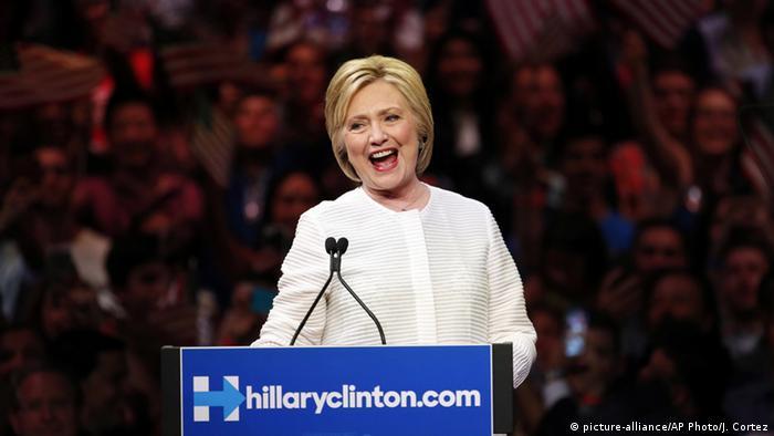USA Präsidentschaftskandidatin Hillary Clinton