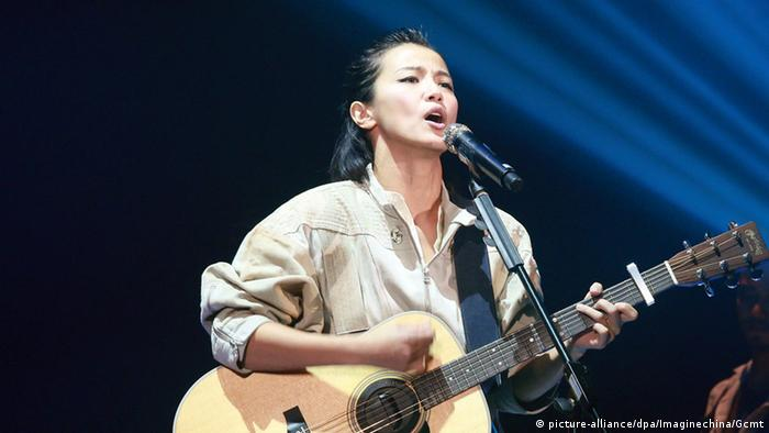 Singer Denise Ho Wan-see (picture-alliance/dpa/Imaginechina/Gcmt)