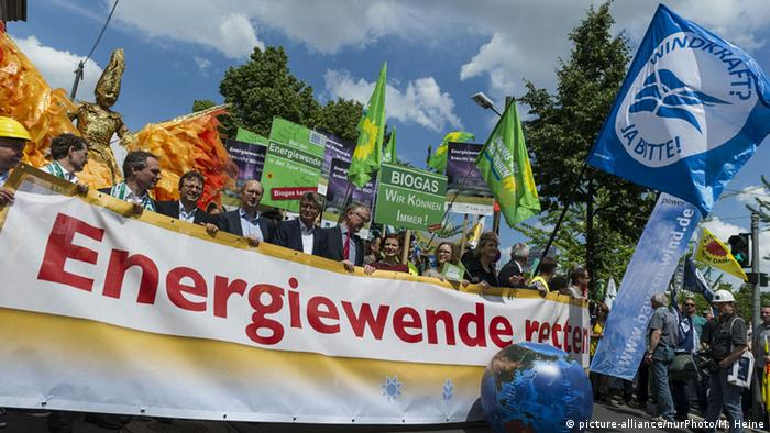 Demonstration against the proposed EEG reform in Berlin