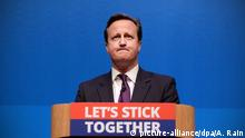 Großbritannien David Cameron Better Together Kampagne