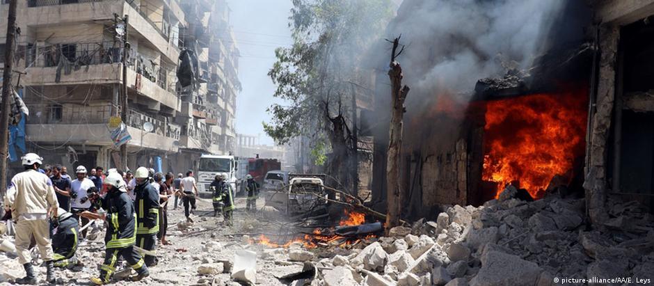 Ataque aéreo atinge hospital em Aleppo, na Síria