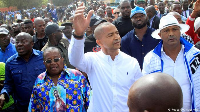 Moise Katumbi in a crowd of supporters